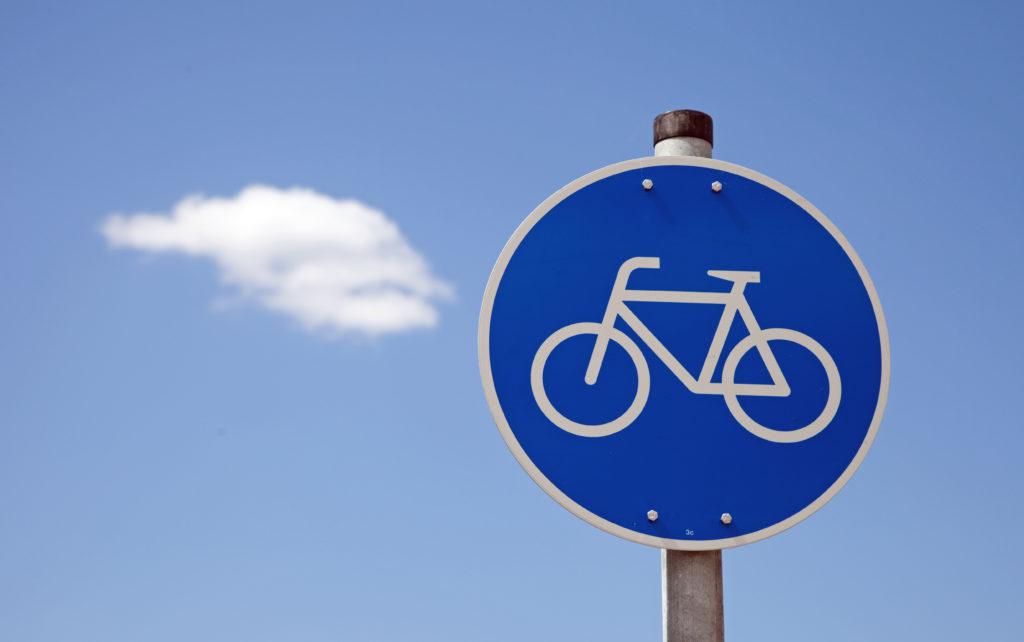Schild Fahrradweg