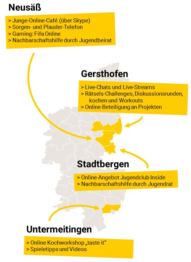 Karte Jugendarbeit Landkreis Augsburg